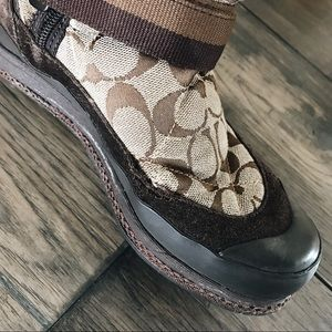 Coach Shoes - COACH 'MARIETTE' RABBIT FUR TRIM BOOTS